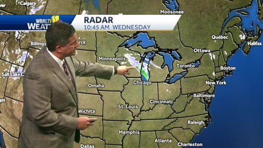 Snow flurries possible Wednesday night north of Baltimore
