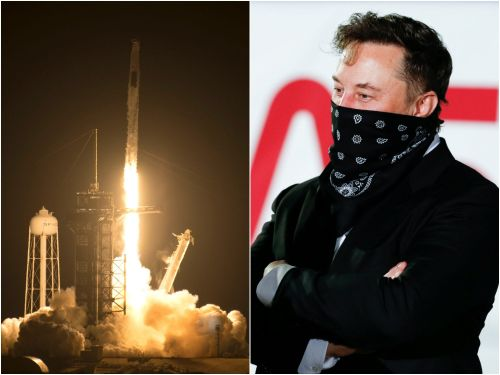 Elon Musk said watching SpaceX's Friday astronaut launch was 'extremely intense' - he couldn't sleep the night before