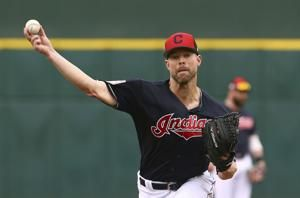 AP source: Indians close to trading ace Kluber to Rangers