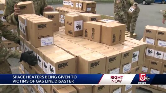 Space heaters being given out after gas explosions