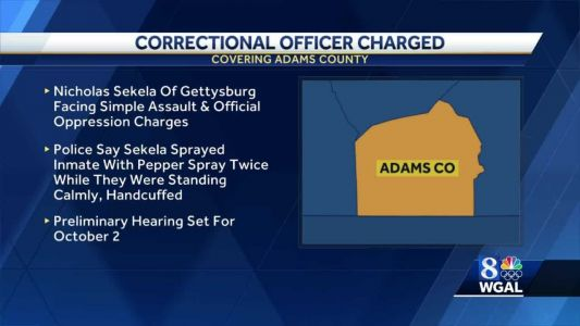 Correctional officer charged for allegedly pepper-spraying inmate without provocation