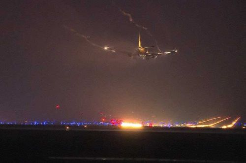 Cargo plane struck by lightning, makes emergency landing at CVG, officials say