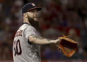Keuchel working on no-hitter for Astros vs Angels through 6