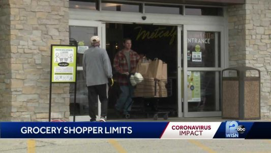 Grocery stores start limiting number of customers allowed inside