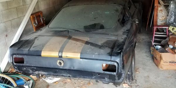 Vintage Mustang found half-finished in barn