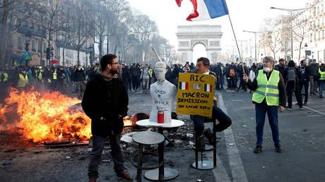Macron lectures UK on democracy while France burns every Saturday - George Galloway