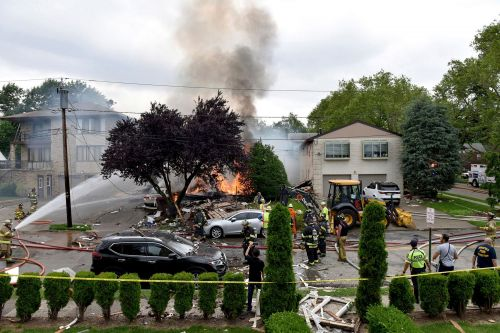 House explodes in New Jersey, showering neighborhood in rubble