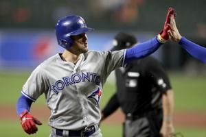 Biggio hits for the cycle as Blue Jays beat Orioles 8-5