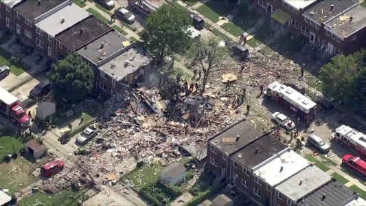 Several trapped, critically injured after houses explode in Baltimore, fire union reports