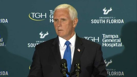 Watch live: Vice President Pence meets with Gov. DeSantis in Florida