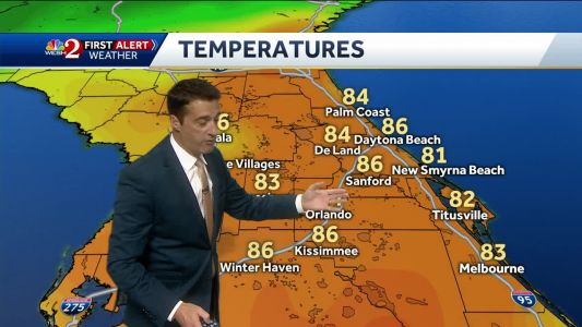 Isolated showers expected Wednesday