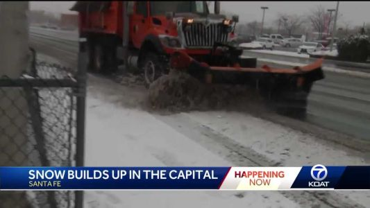 One day closer to Spring, says Santa Fe man plowing snow