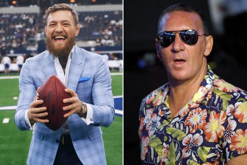 Conor McGregor's dad shows off his stuff in boxing ring