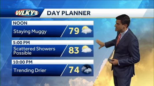 Shower Chances Tuesday