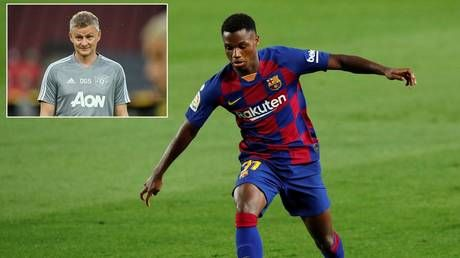 Manchester United 'linked with teenage Barca prodigy Ansu Fati' after missing out on Jadon Sancho transfer