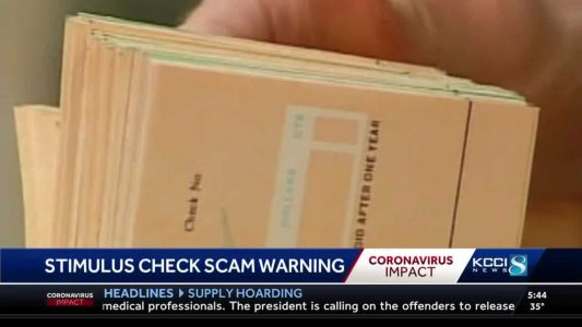 Government warns of stimulus check scams