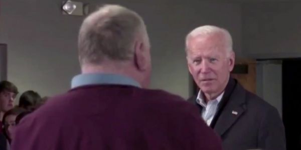Video shows the moment Joe Biden called an Iowa voter a 'liar' and challenged him to a push-up contest