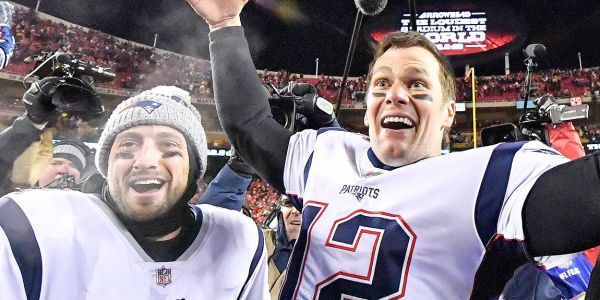Tom Brady and the Patriots are reveling in their underdog status after their overtime win in the AFC Championship