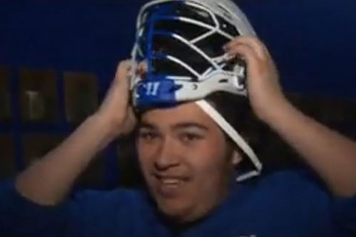 Wheaton college lacrosse player's head too big for helmet, unable to play