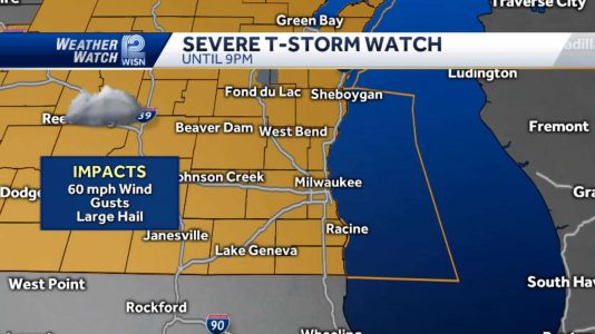 VIDEOCAST: Severe T'Storm Watch until 9pm