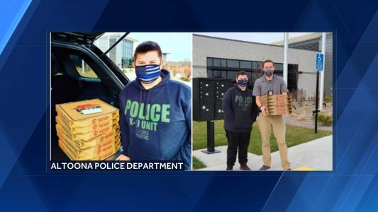 12-year-old donates pizza to police stations on birthday of fallen Iowa sergeant