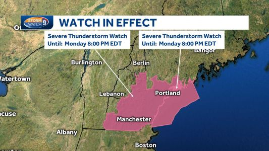 Severe thunderstorm watch issued for most of NH