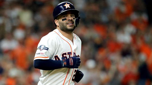 Jose Altuve blasts off on Aroldis Chapman, sends Astros to World Series on walk-off home run