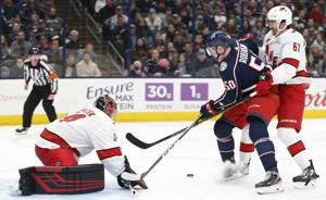 Foligno scores late to push Blue Jackets past Hurricanes 3-2