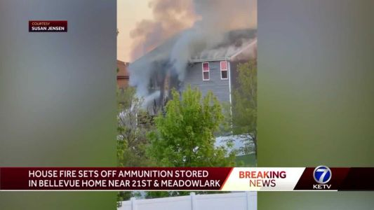 House fire sets off ammunition stored in Bellevue home