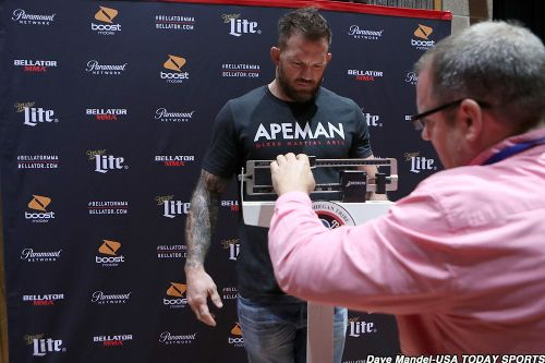Bellator 207 weigh-in results: Mitrione (255), Bader official for main event