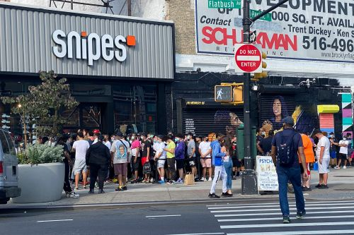 Chaos erupts at opening of Brooklyn store tied to DJ Khaled sneakers