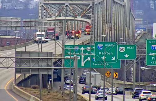 Crash shuts down all southbound lanes on Brent Spence Bridge