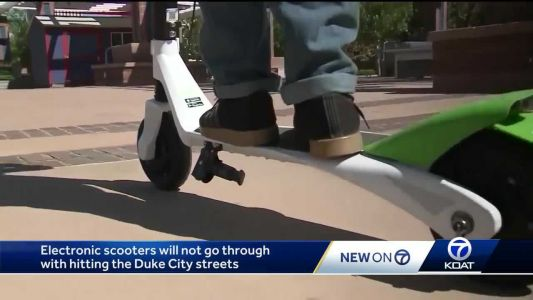 Electric scooters scoot away from the Duke City