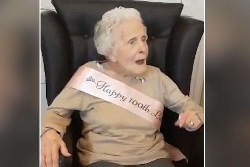 100-year-old granny is still singing a happy tune