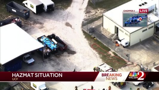 Employee treated for chemical burns after Hazmat situation at UCF, officials say