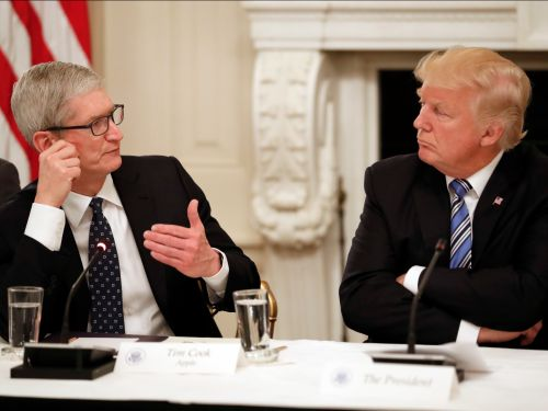 Apple CEO Tim Cook warned Trump that China tariffs would boost its main rival Samsung, in a major reversal