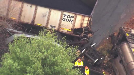 Train derails in Indiana County