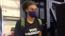 WNBA Players Back Kelly Loeffler's Senate Opponent With 'Vote Warnock' Shirts