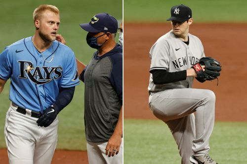 Warnings issued after Yankees' Jordan Montgomery drills Rays' Austin Meadows