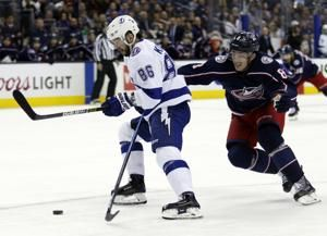 Kucherov has 5 points, Lightning beat Blue Jackets 5-1
