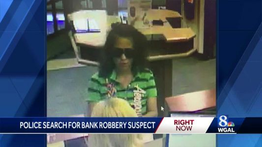 Police in Cumberland County search for bank robbery suspect