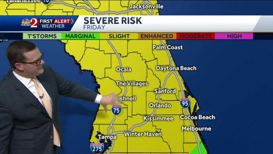 Severe weather possible on Friday