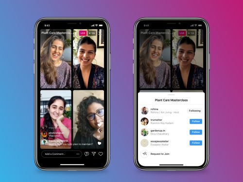 Instagram takes on Clubhouse by letting up to 4 speakers livestream together and make money from tips and brand deals