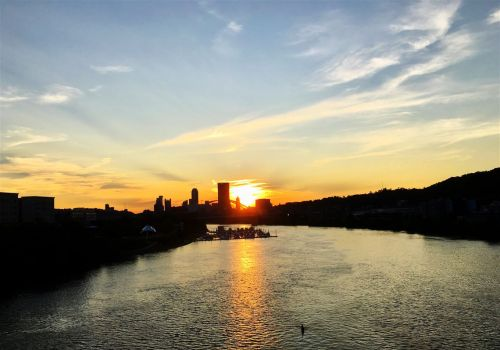 EssentiallyPittsburgh: Sunset from the Hot Metal Bridge