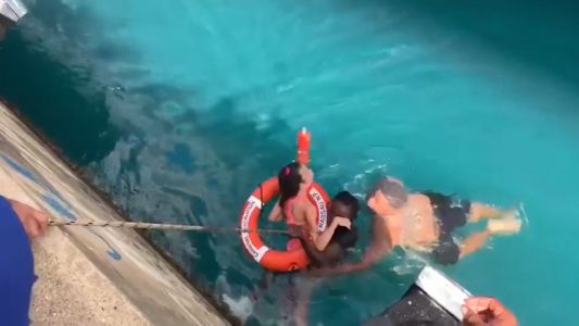 WATCH: Video shows rescue of cruise-ship passenger in wheelchair who fell from dock