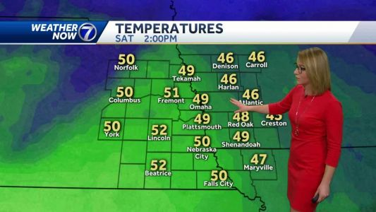 Chilly Friday, milder temperatures this weekend