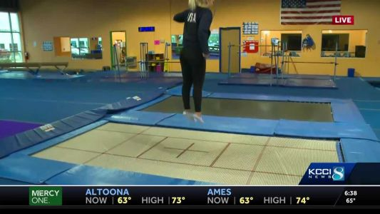 Gotta bounce! USA gymnast shows off her skills