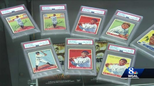 Valuable collection of rare baseball cards to be auctioned by Lancaster company