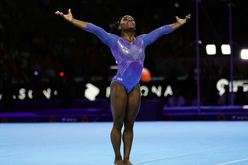 Simone Biles sets medal mark at gymnastics world championships