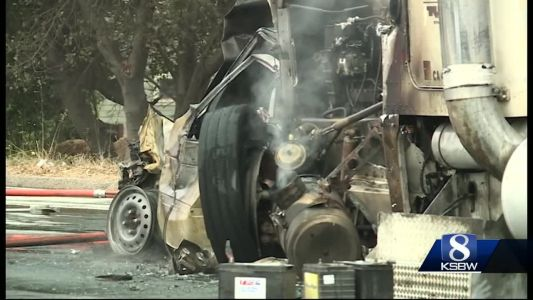 CHP investigators say a big rig responsible in a 21-car pileup on State Route 1 in Santa Cruz was not registered